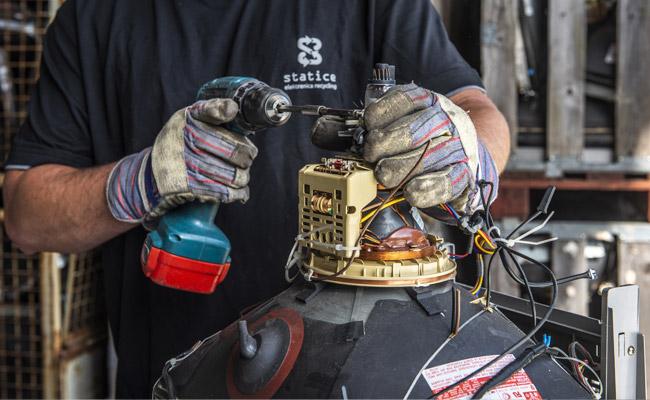 Verwerking e-waste gemeenten